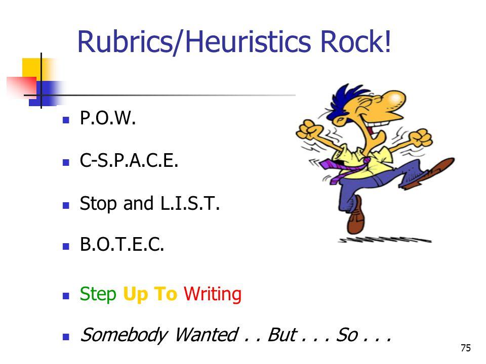 Rubrics/Heuristics Rock!
