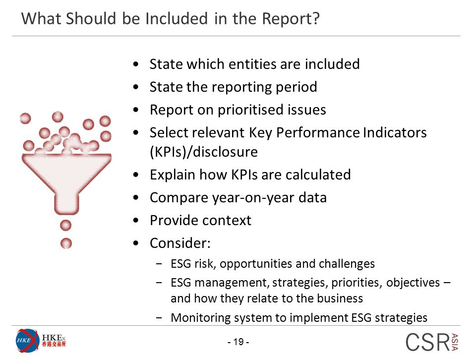 What Should be Included in the Report