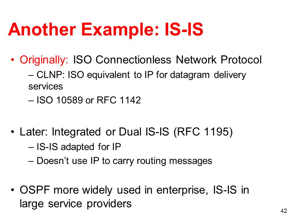 Another Example: IS-IS