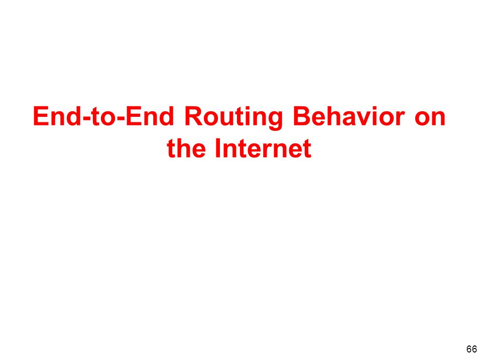 End-to-End Routing Behavior on the Internet
