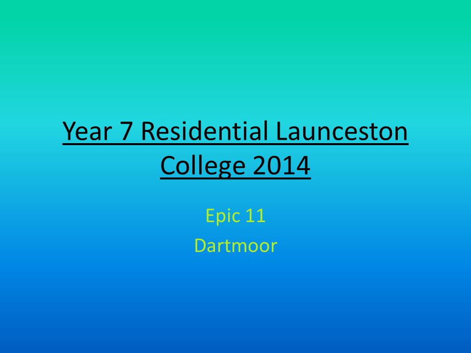 Year 7 Residential Launceston College 2014