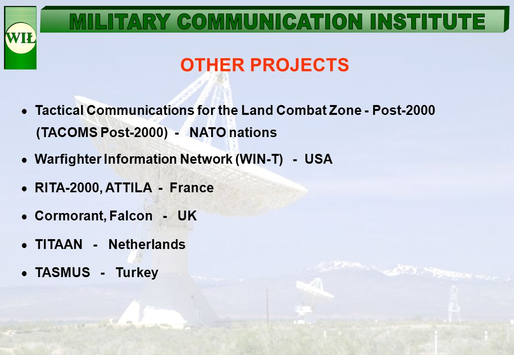 Tactical Communications for the Land Combat Zone - Post-2000