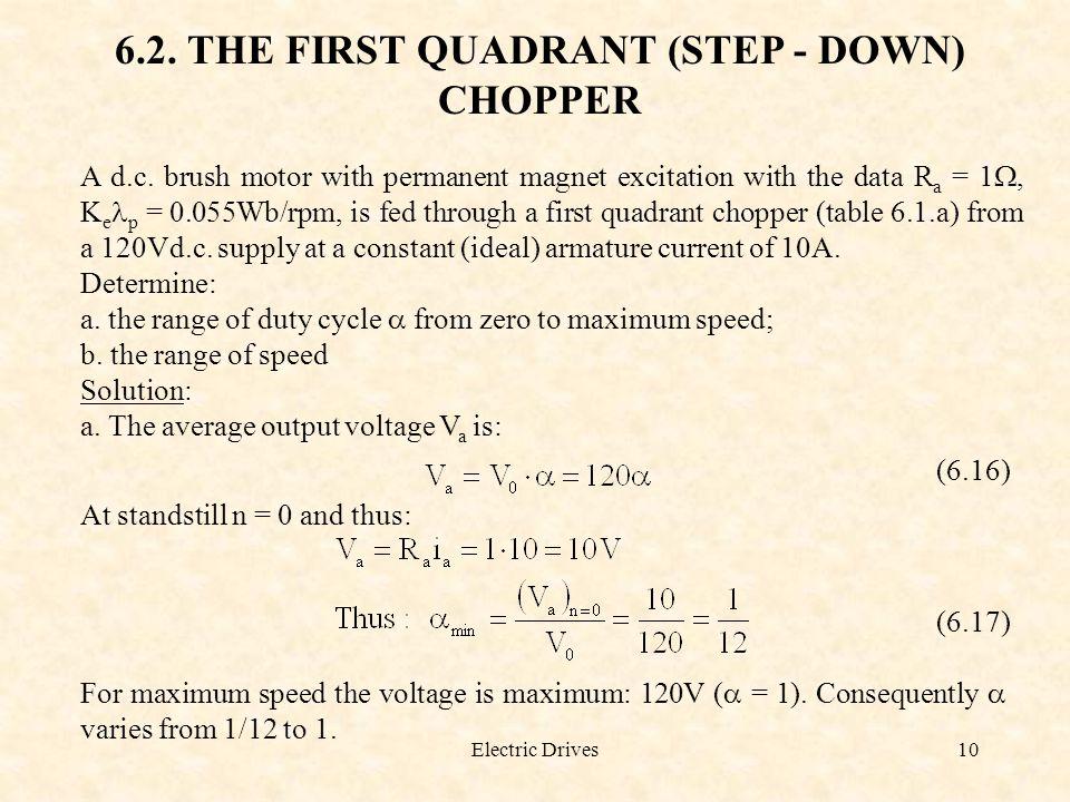 6.2. THE FIRST QUADRANT (STEP - DOWN) CHOPPER