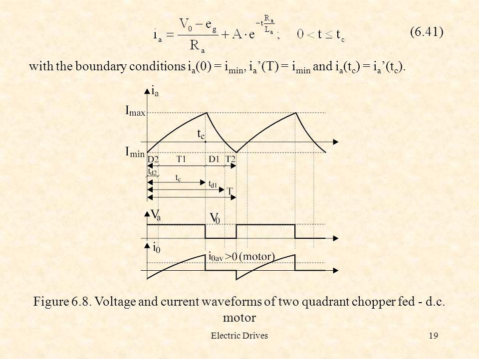 (6.41) with the boundary conditions ia(0) = imin, ia'(T) = imin and ia(tc) = ia'(tc).