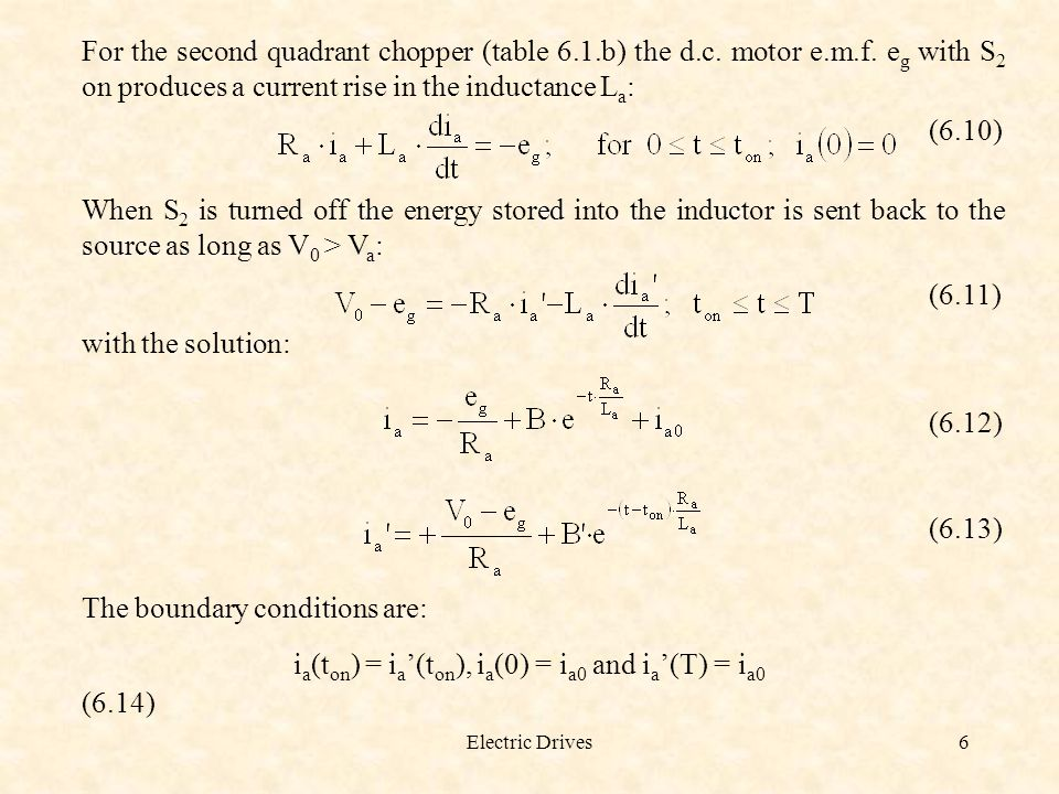 The boundary conditions are:
