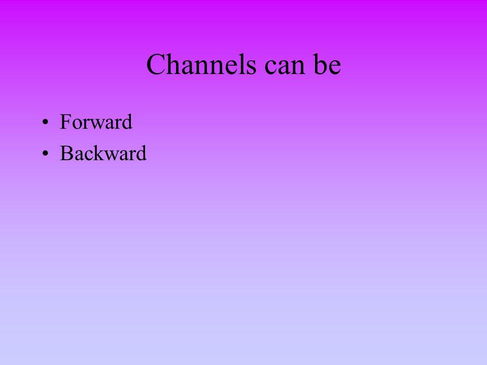 Channels can be Forward Backward