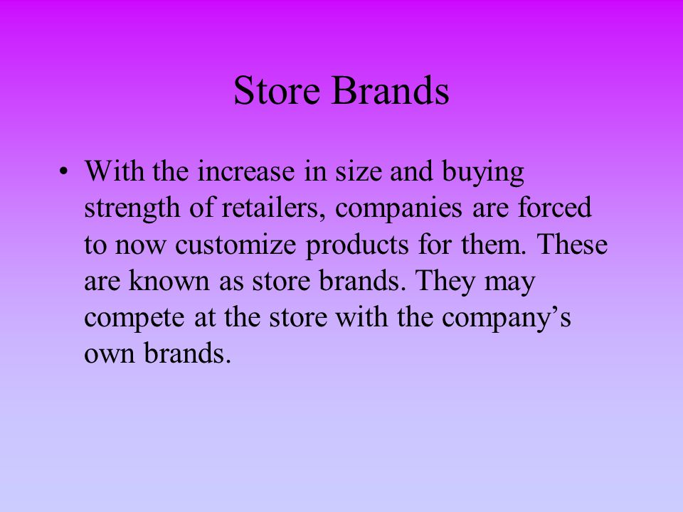 Store Brands