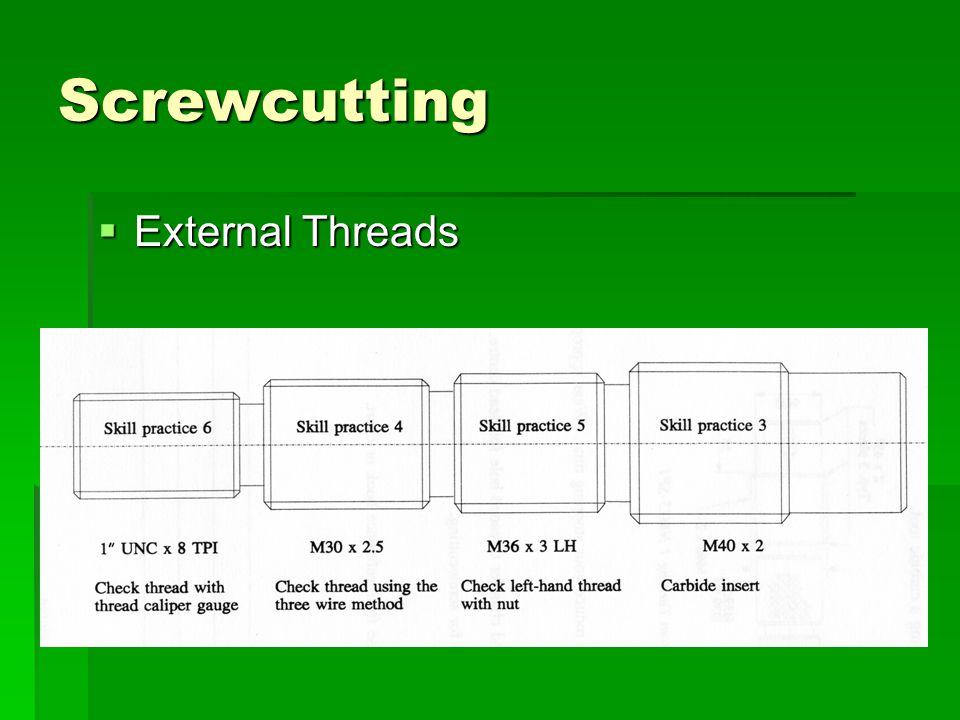 Screwcutting External Threads