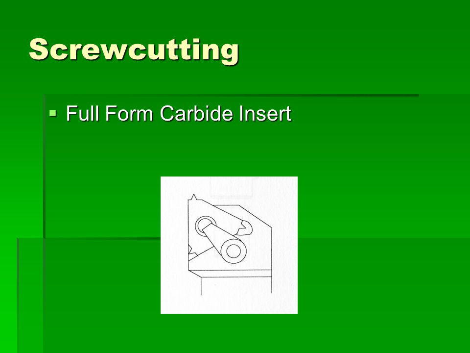 Screwcutting Full Form Carbide Insert
