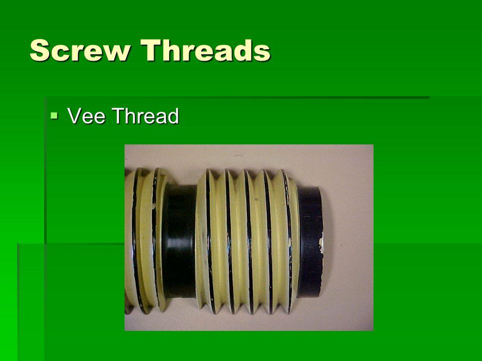 Screw Threads Vee Thread