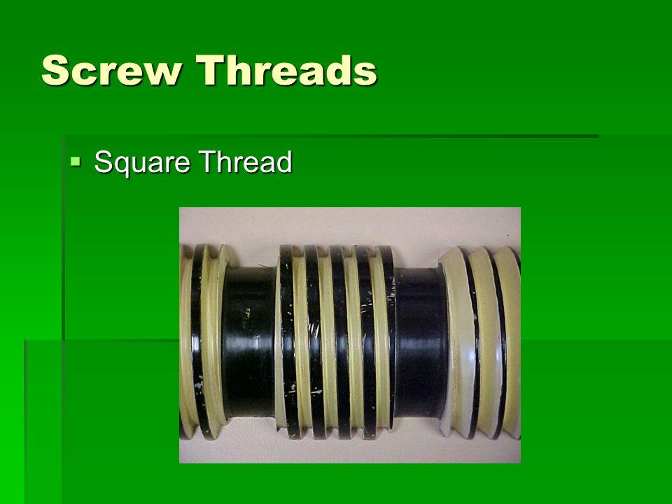 Screw Threads Square Thread