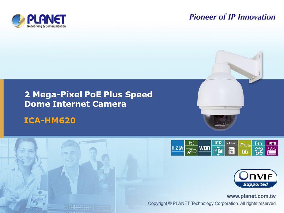 2 Mega-Pixel PoE Plus Speed Dome Internet Camera