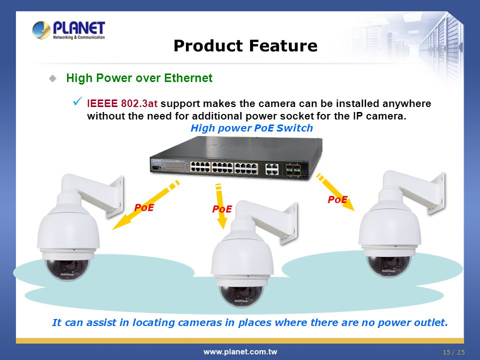 Product Feature High Power over Ethernet