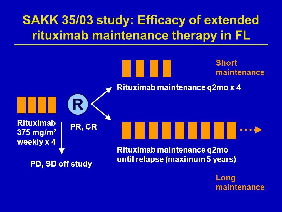 SAKK 35/03 study: Efficacy of extended rituximab maintenance therapy in FL