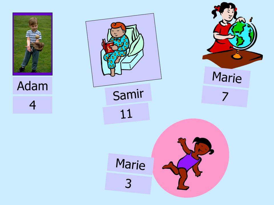 Marie Adam Samir 7 4 11 Marie 3 11
