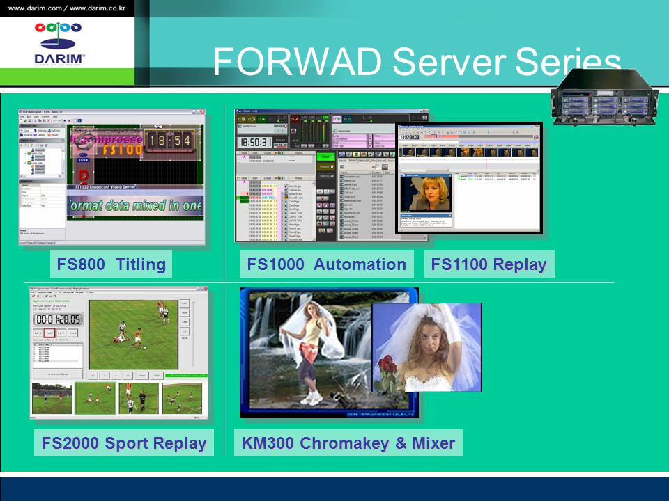 FORWAD Server Series FS800 Titling FS1000 Automation FS1100 Replay