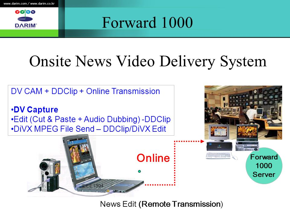 Forward 1000 Onsite News Video Delivery System