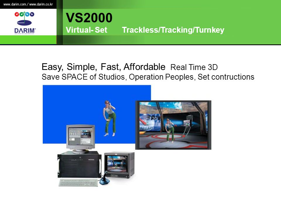 VS2000 Easy, Simple, Fast, Affordable Real Time 3D