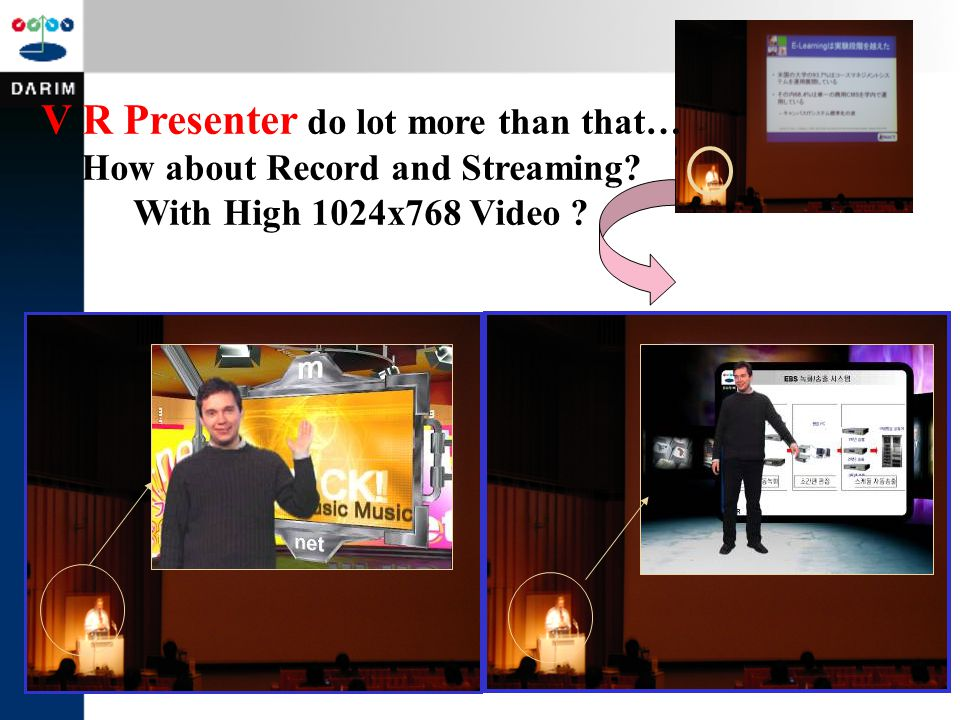 V R Presenter do lot more than that… How about Record and Streaming