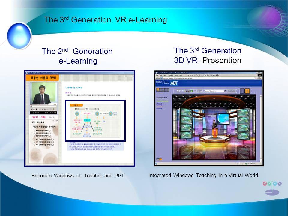 The 3rd Generation VR e-Learning