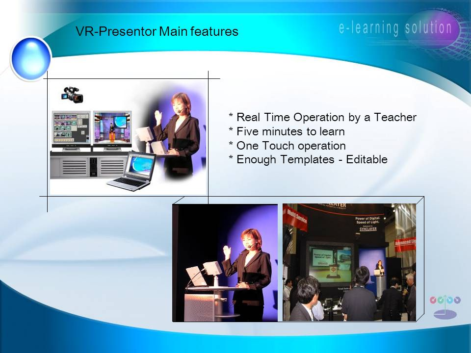 VR-Presentor Main features