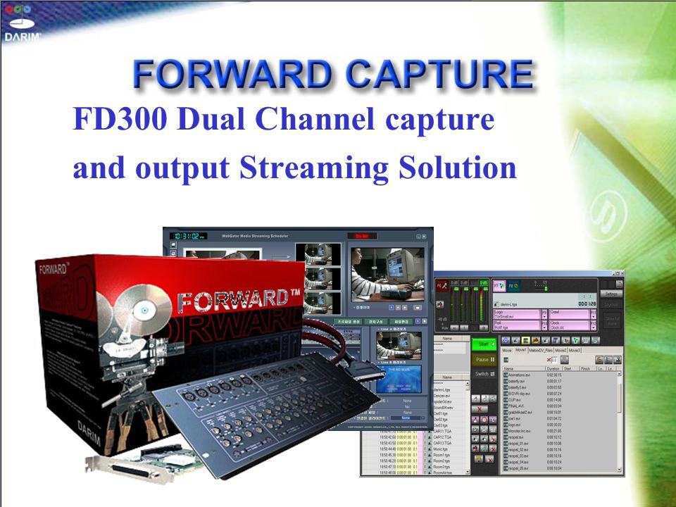 FD300 Dual Channel capture