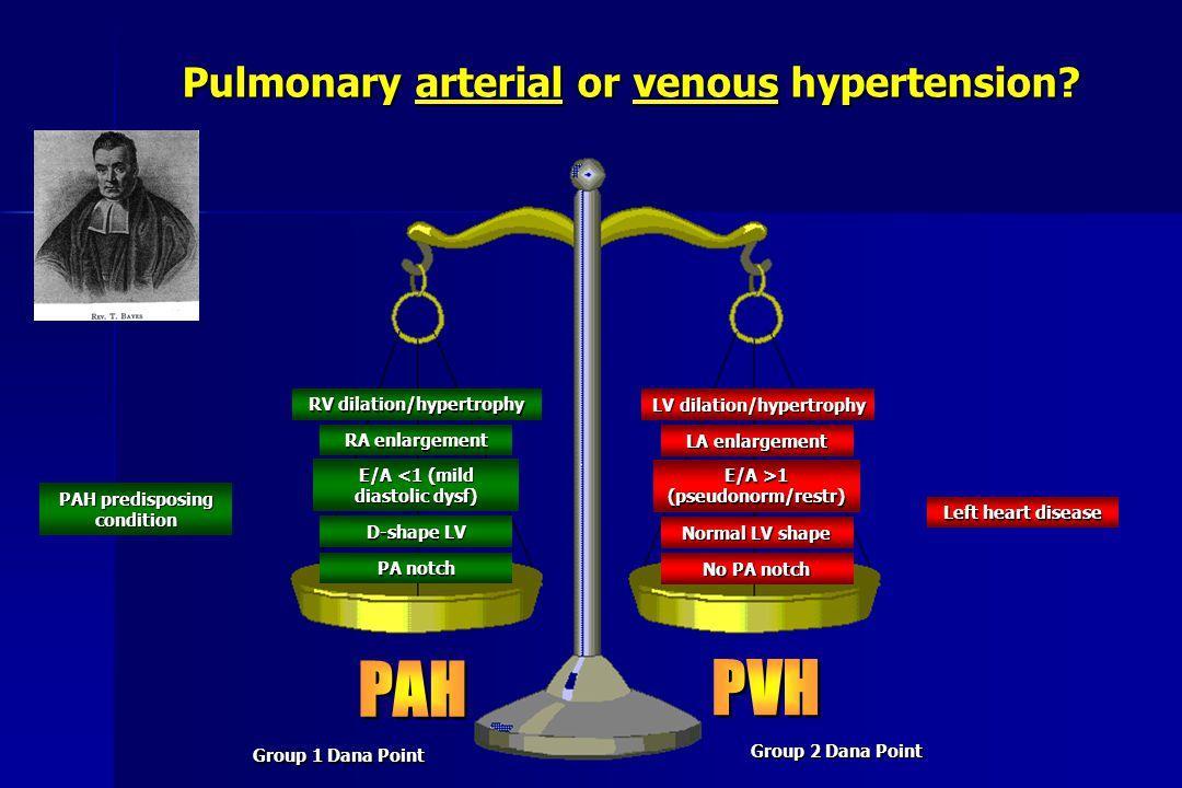 PAH PVH Pulmonary arterial or venous hypertension