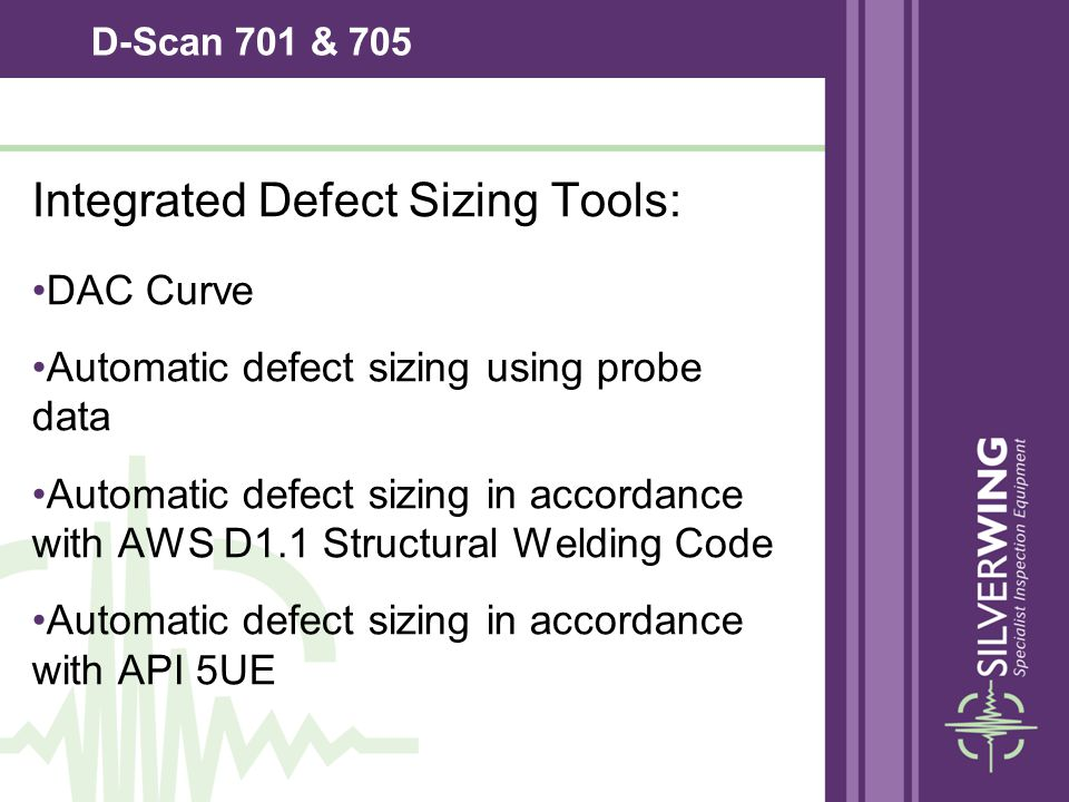 Integrated Defect Sizing Tools: