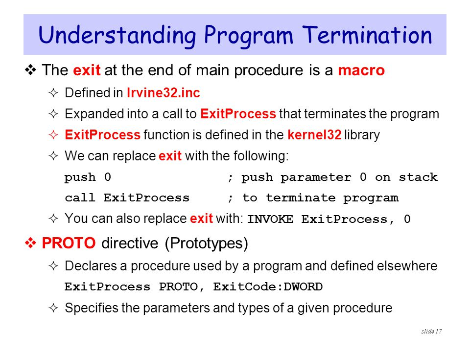 Understanding Program Termination