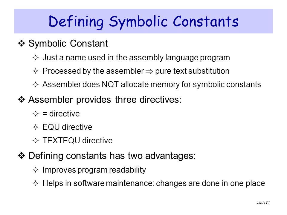 Defining Symbolic Constants