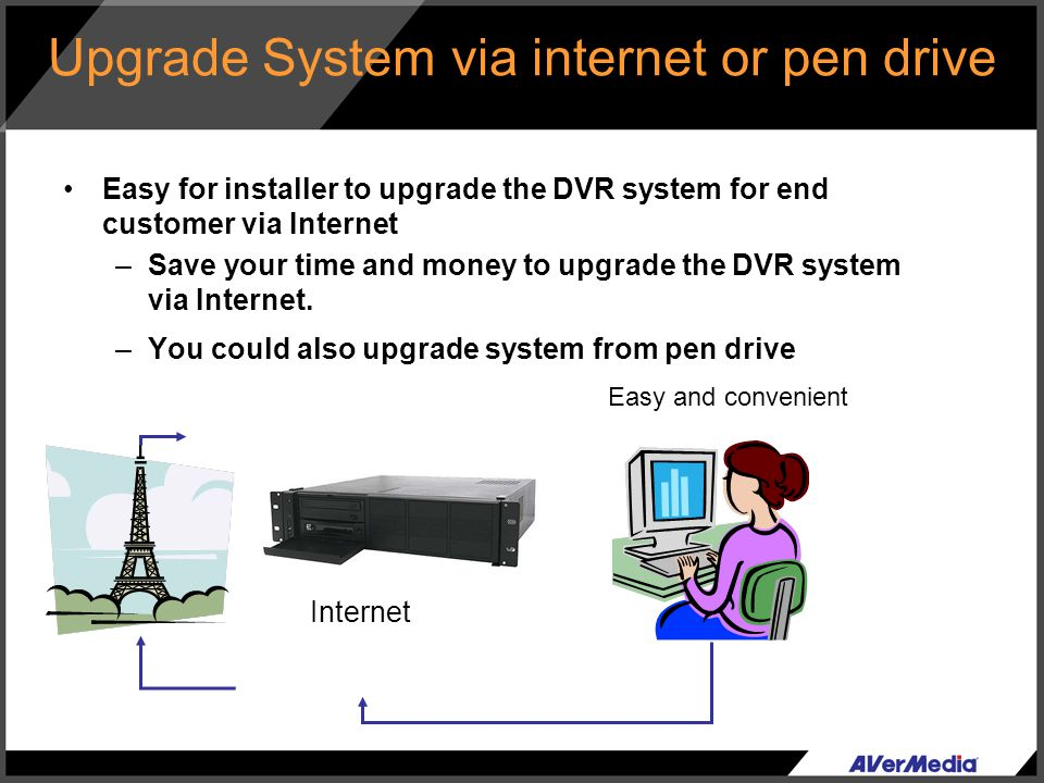 Upgrade System via internet or pen drive