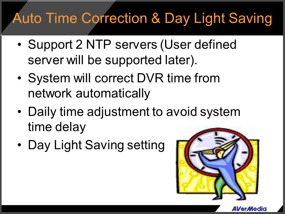 Auto Time Correction & Day Light Saving