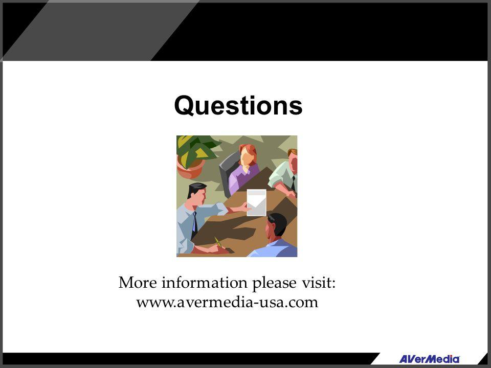 More information please visit: