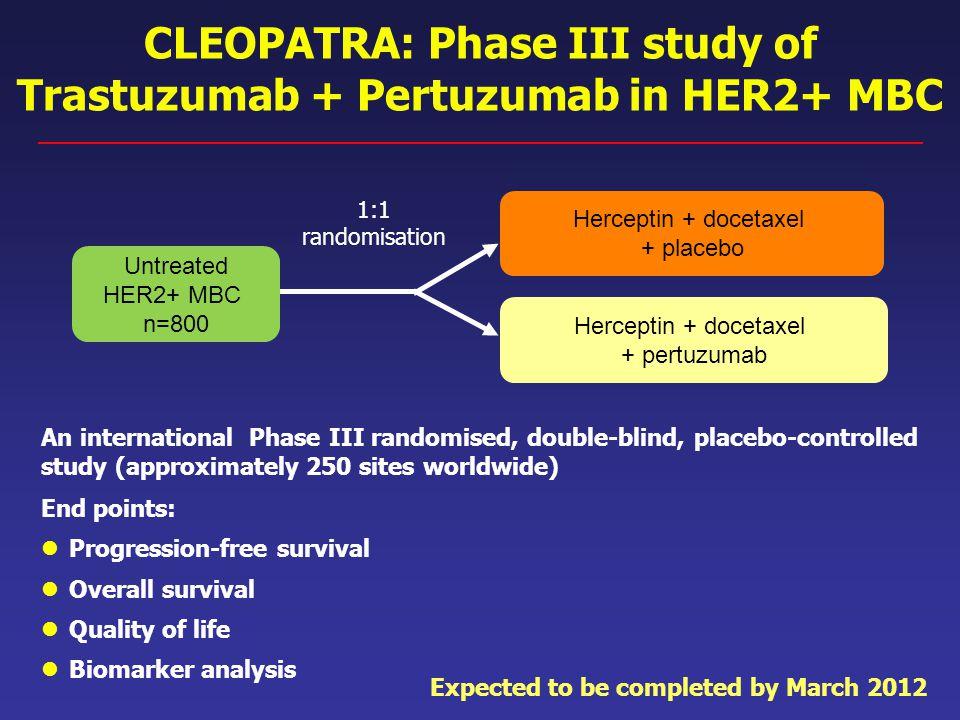 CLEOPATRA: Phase III study of Trastuzumab + Pertuzumab in HER2+ MBC