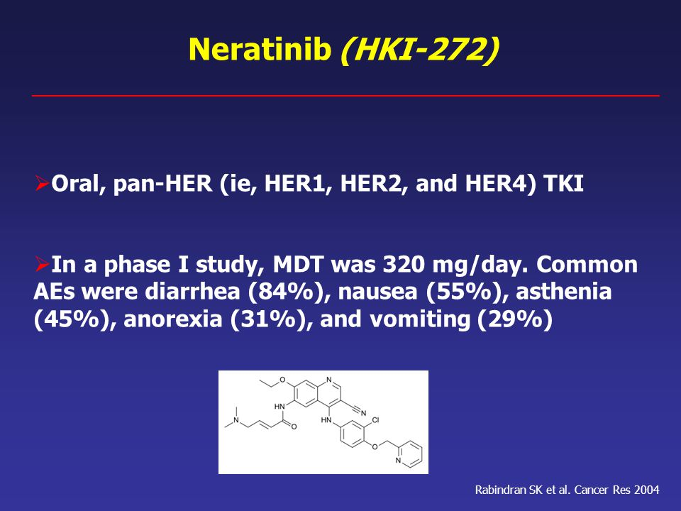 Neratinib (HKI-272) Oral, pan-HER (ie, HER1, HER2, and HER4) TKI