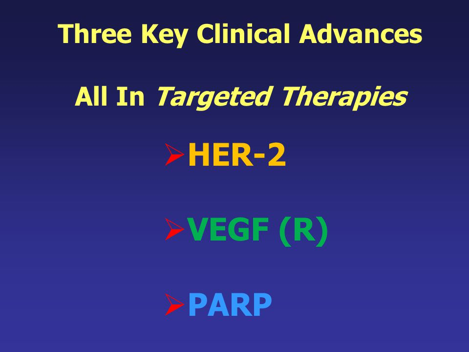 Three Key Clinical Advances All In Targeted Therapies