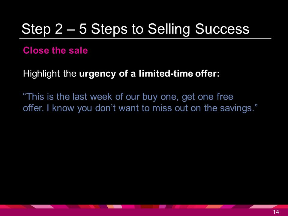 Step 2 – 5 Steps to Selling Success