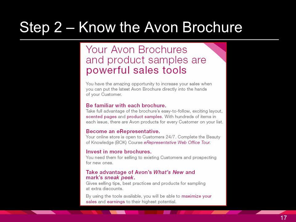 Step 2 – Know the Avon Brochure