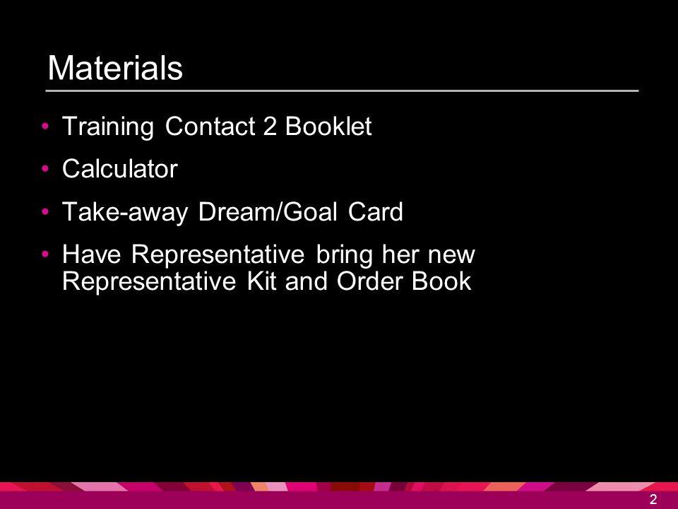 Materials Training Contact 2 Booklet Calculator