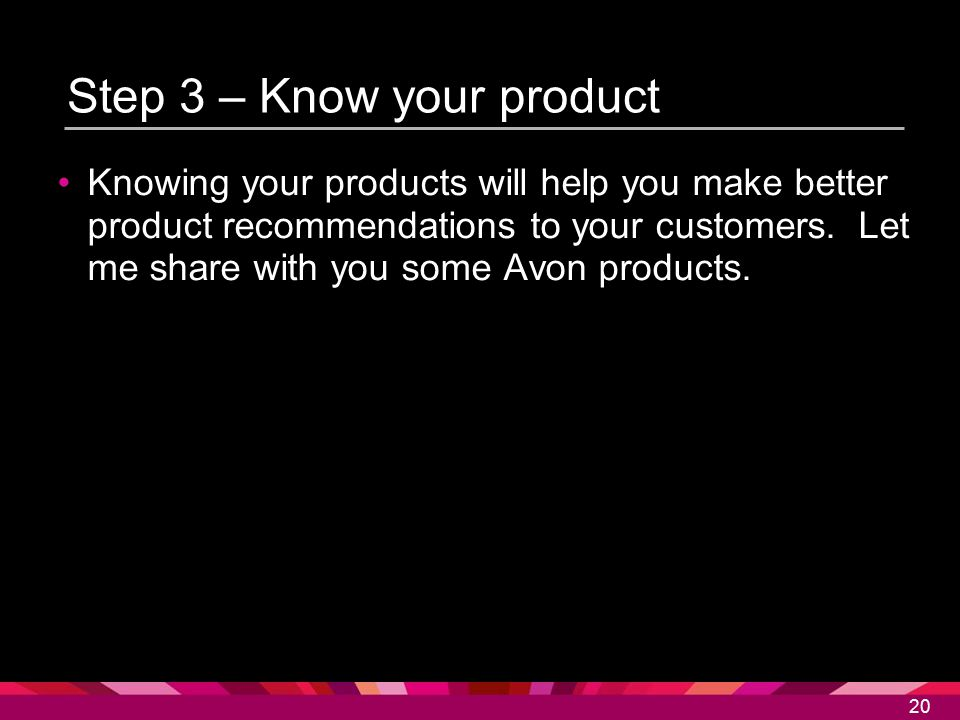 Step 3 – Know your product