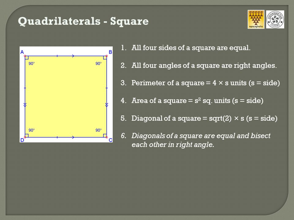 Quadrilaterals - Square