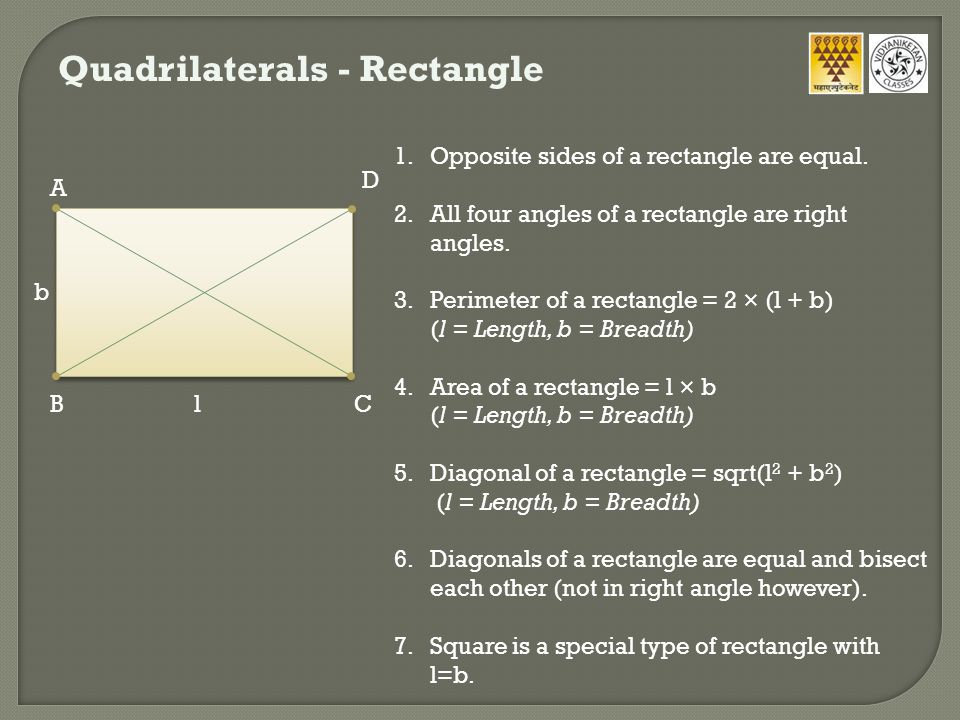 Quadrilaterals - Rectangle