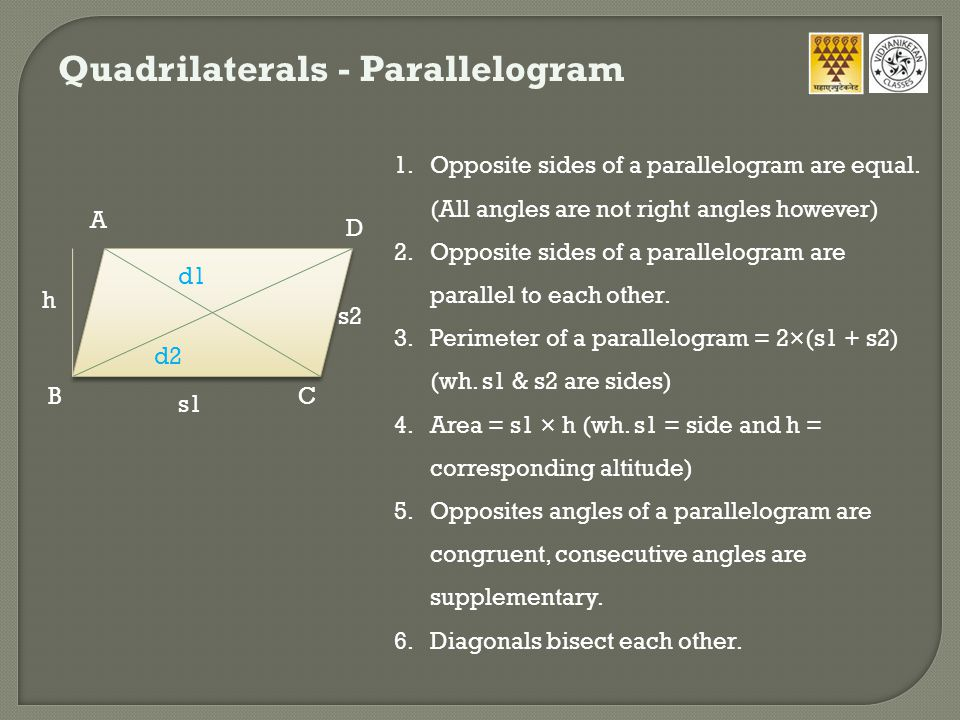 Quadrilaterals - Parallelogram