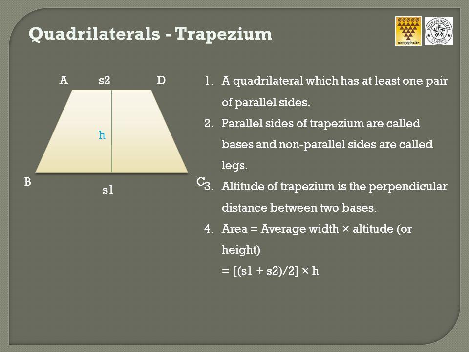 Quadrilaterals - Trapezium