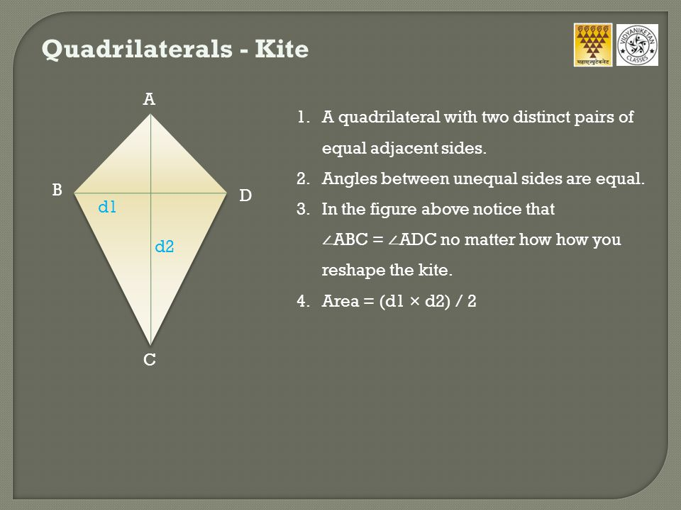 Quadrilaterals - Kite A