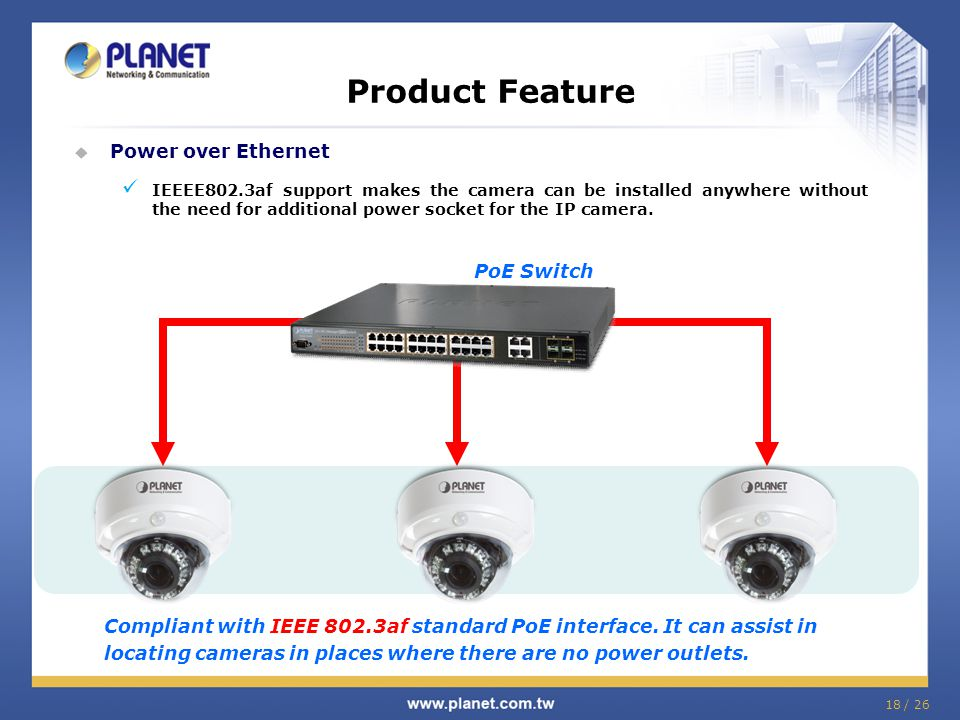 Product Feature Power over Ethernet PoE Switch