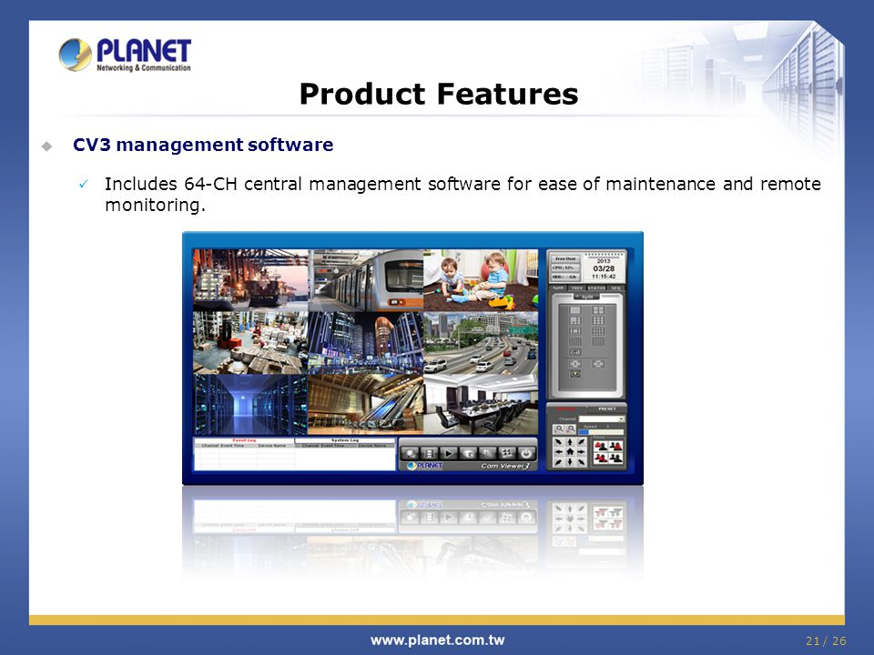 Product Features CV3 management software