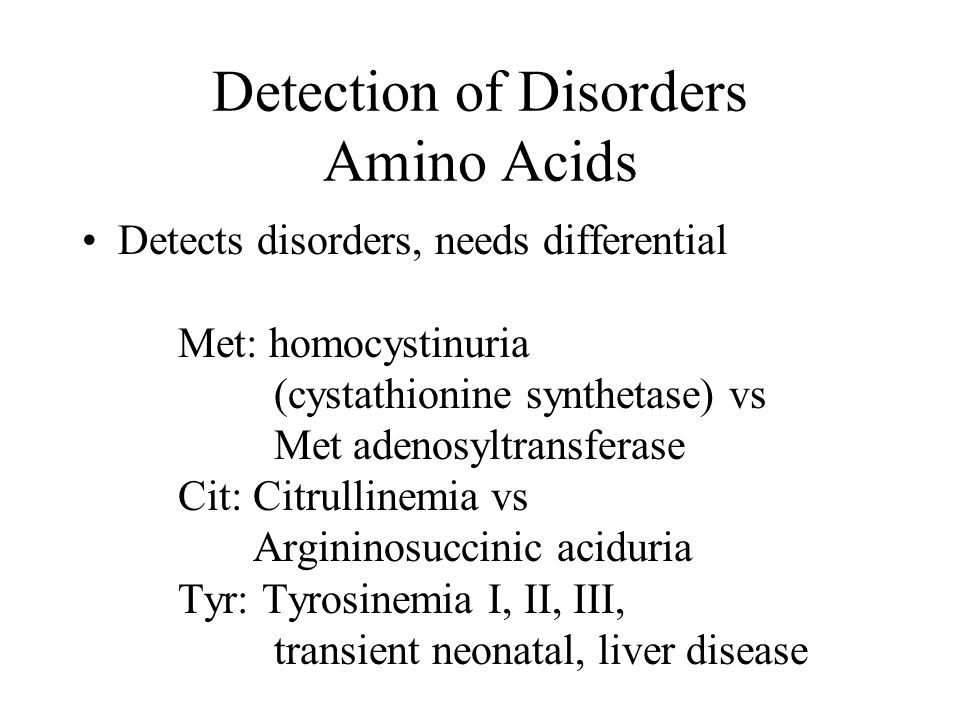 Detection of Disorders Amino Acids