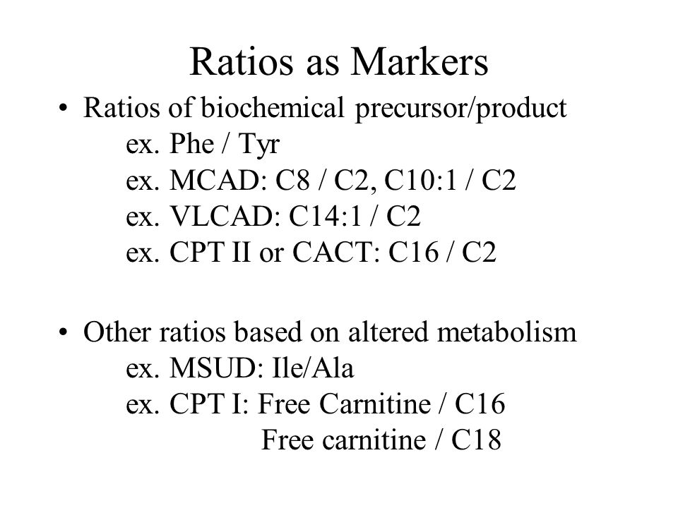 Ratios as Markers