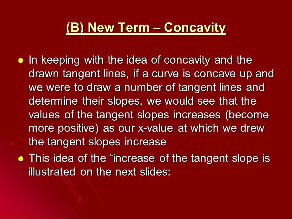 (B) New Term – Concavity